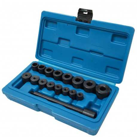 Clutch alignment tool set, 16 cone adapters