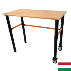 Mobile workbench with two wheels 125x62x105cm