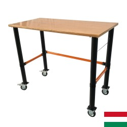 Mobile workbench with four wheels 125x62x105cm