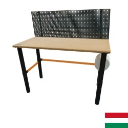 Modular workbench with tool rack panel, 125x62x80cm