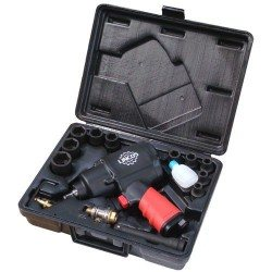 "1/2"" impact wrench set, 1356Nm, with 9 standard sockets"