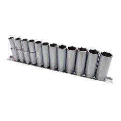 "6-point socket set, 3/8"", deep"