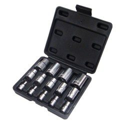 "1/4"", 3/8"", 1/2"" E-type (E-torx) socket set, 14pcs"