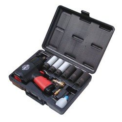"1/2"" impact wrench set, 1356Nm, with 6 deep sockets"