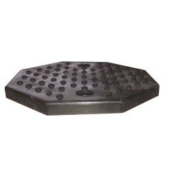 Rubber pad for post lifts, octagon shape (with holes)
