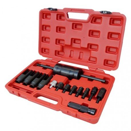 Injector puller tool set, with slide hammer