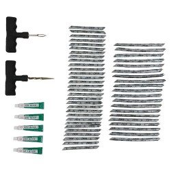 Tyre repair kit, 57pcs, in plastic case