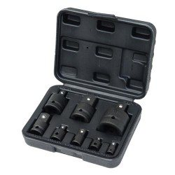 "Socket adapter set, 1/4""-1"", 8pcs"