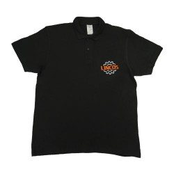 Lincos polo shirt, black, XXXL-size