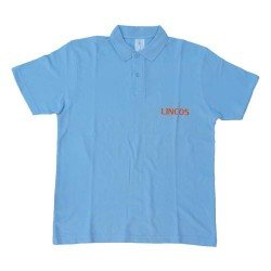 Lincos polo shirt, blue, XXL-size