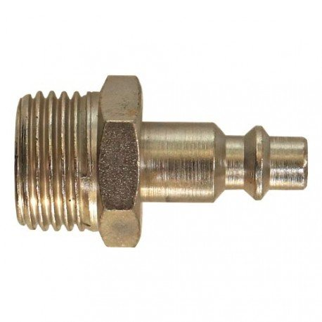 "1/2"" air coupler plug, external thread"