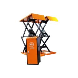 Scissor lift 3t, with built-in loading ramp