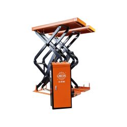 Flush mounted scissor lift, 3t, pull-out ramp