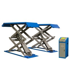 Scissor lift 3t, adjustable ramp length