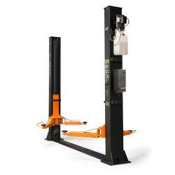 Two-post lift 4t, automatic safety lock release