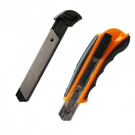 Utility knife, 18 mm, with 8 blades